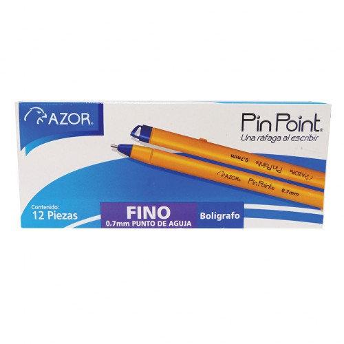 BOLIGRAFO AZOR P/FINO STICK AZUL C/12 PZS PINPOINT