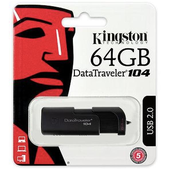 MEMORIA USB 64GB KINGSTON DT104 NEGRO