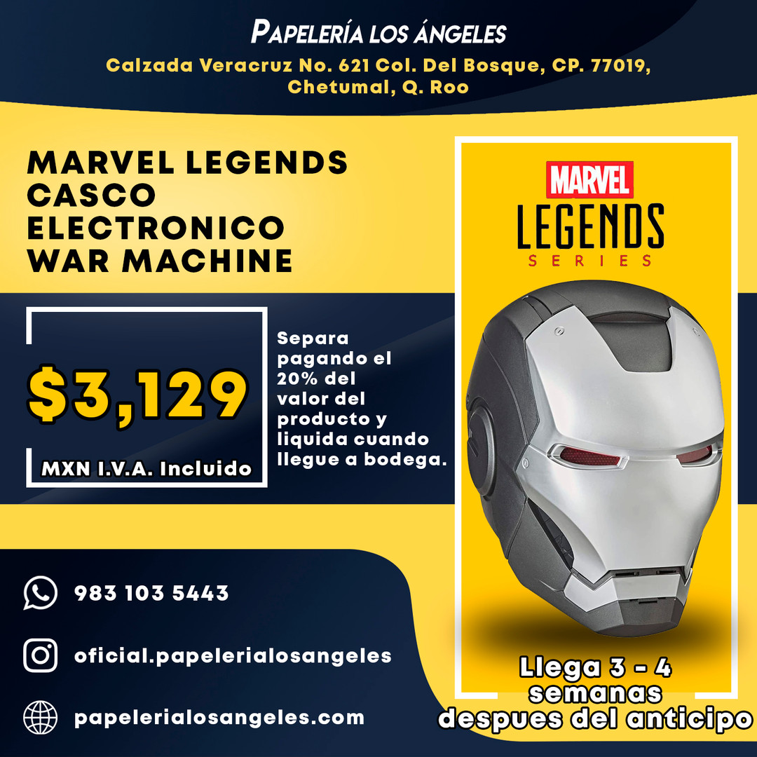 MARVEL LEGENDS CASCO ELECTRONICO WAR MAC