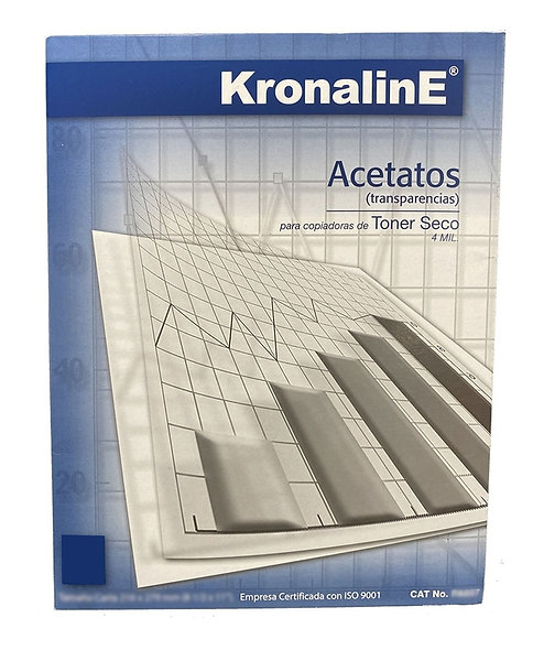 ACETATO T/C PARA COPIADORA KRONALINE 100 HOJAS