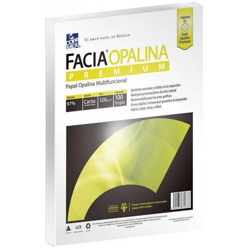 PAPEL OPALINA DELGADA TAMAÑO CARTA BLANCO C/100 HJS 125 g COPAMEX
