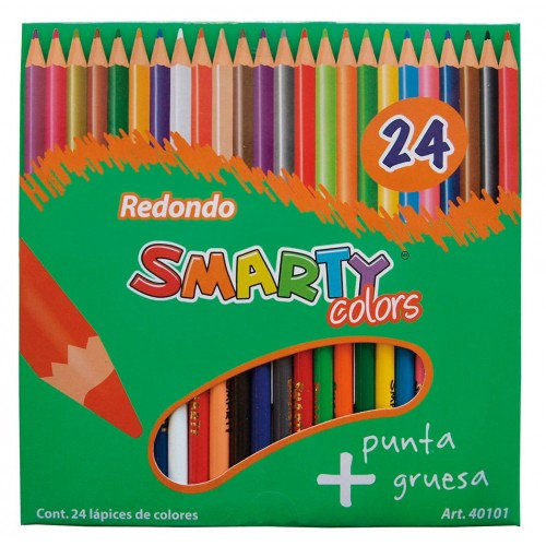 COLORES REDONDOS SMARTY COLORS 24 PZAS