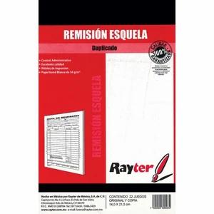 BLOCK REMISION ESQUELA DUPLICADO RAYTER 14 X 21.5 CM