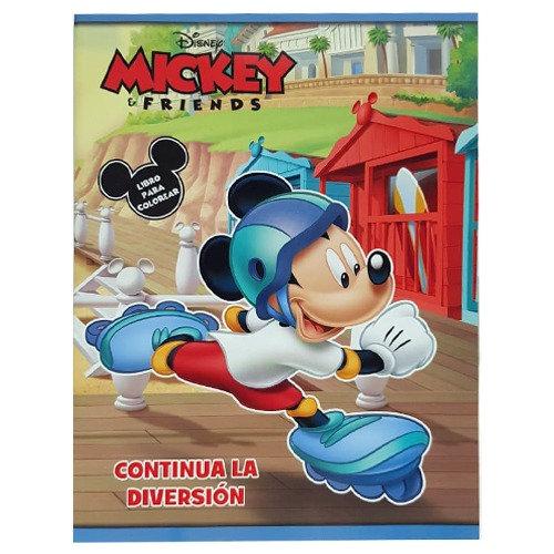 LIBRO PARA COLOREAR MICKY Y FRIENDS CONTINUA LA DIVERSION C/80 PAGS