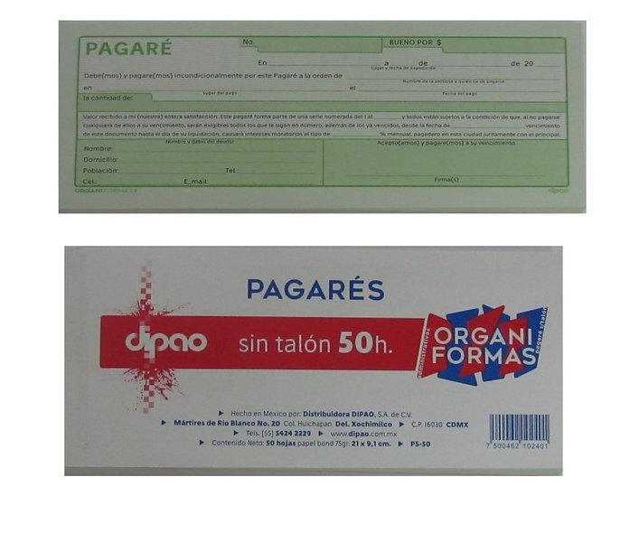 BLOCK PAGARES SIN TALON DIPAO C/50 HJS