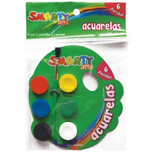 ACUARELAS 6 PASTILLAS SMARTY ARTS 40600