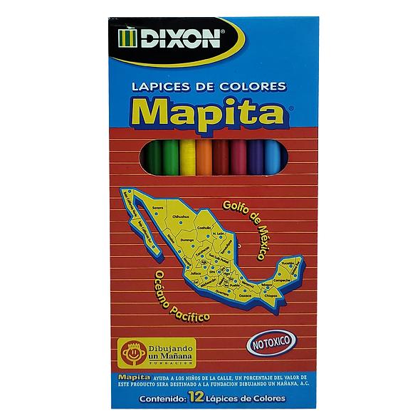 COLORES DIXON MAPITA 12 PZS LARGOS [5 CAJAS]