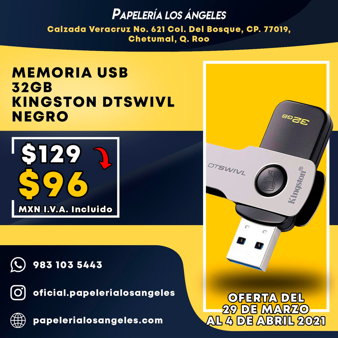 VENTA FLASH ABRIL 2021 MEMORIA DTSWIVL K