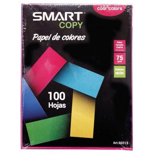 PAPEL BOND T/CARTA COLORES SURTIDOS COOL COLORS C/100 HJS SMART