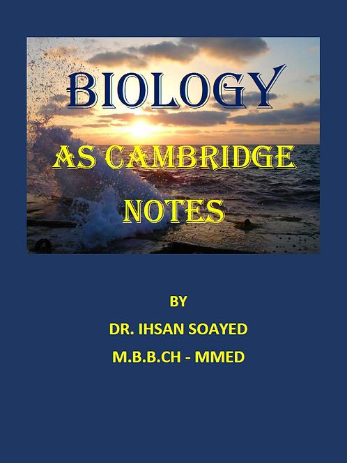 AS Biology notes - Cambridge