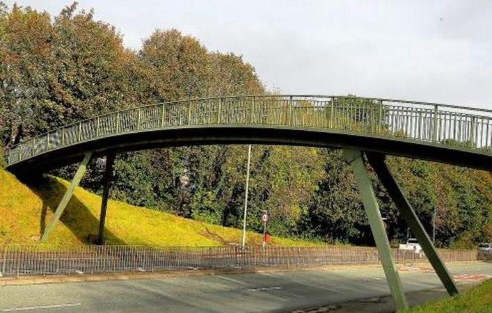 The current Burghmuir bridge that will be replaced with a new road crossing