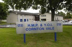 A sign outside Cornton Vale prison reads: HMP & YOI Cornton Vale