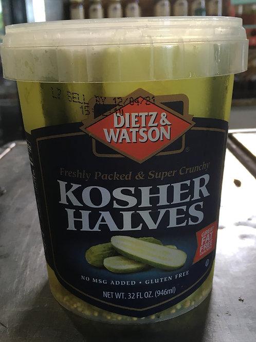 DW-Kosher Pickle Halves (32oz)