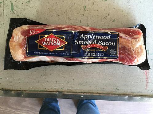 Applewood Smoked Bacon (1 1/2lb pkg)-Dietz & Watson