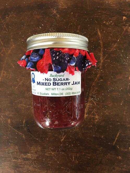 No Sugar Mixed Berry Jam (jar)