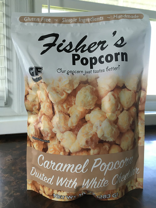 Fisher's Caramel Popcorn Dusted with Cheddar (10oz bag)