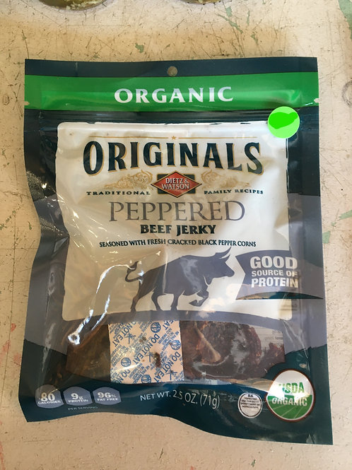 DW-Beef Jerky (2.5oz): Peppered