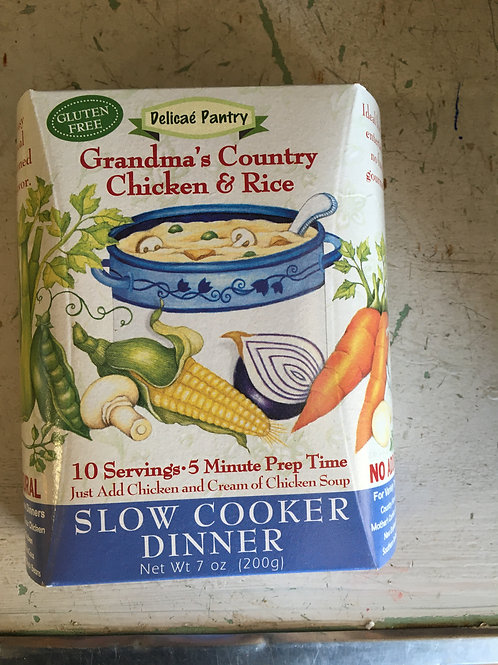 SG-Slow Cooker Dinner Spices (5.5oz): Grandma's  Country Chicken & Rice