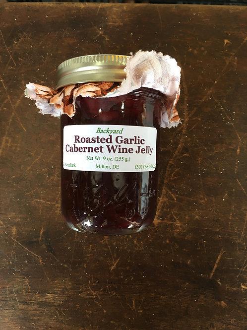 BJJ-Roasted Garlic Cabernet Wine Jelly (jar)