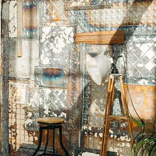 Vintage Tin Wall