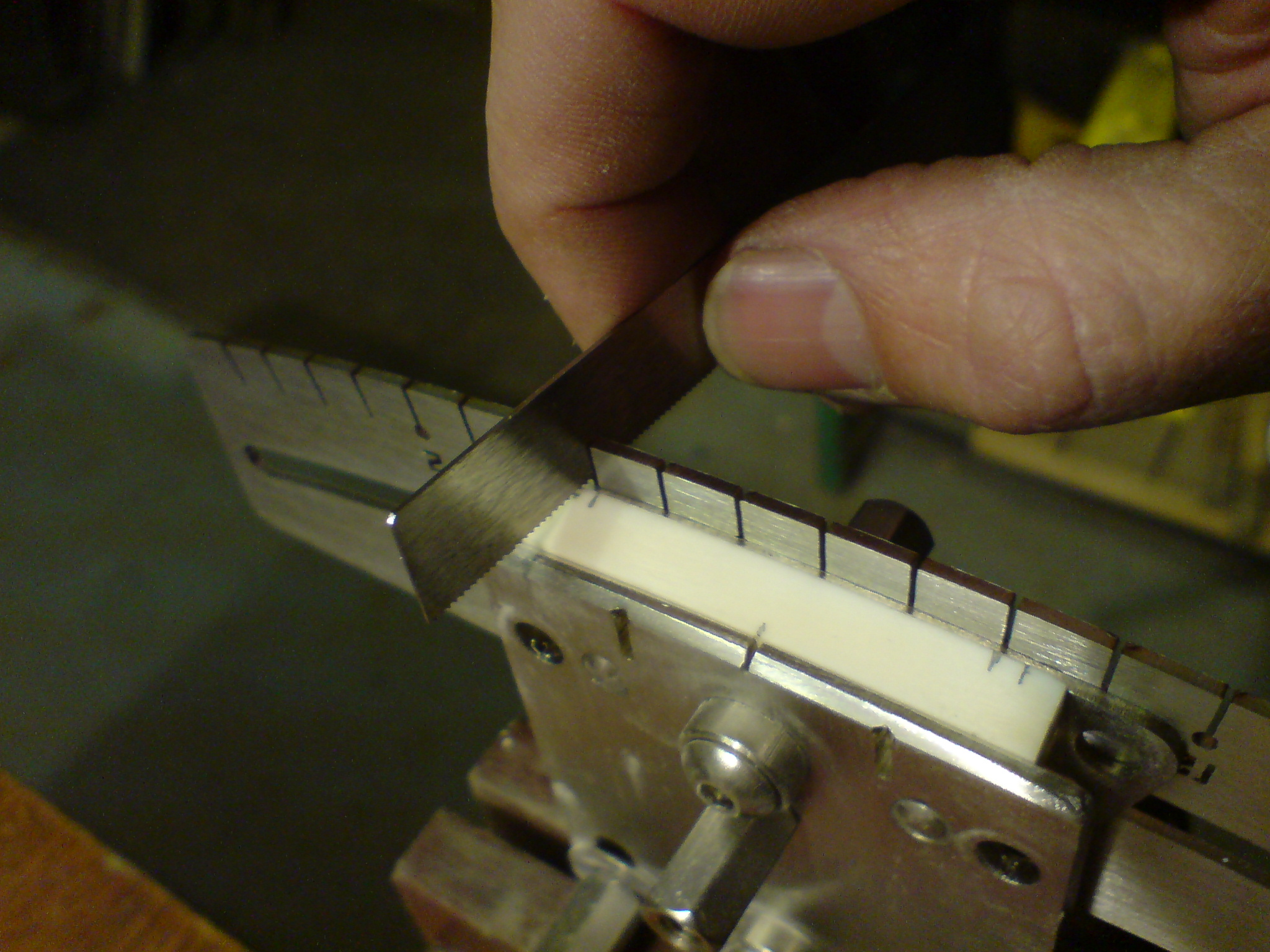 Guitar Nut String Spacing Jig