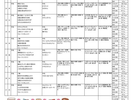 令和2年度 3月献立表(後半)