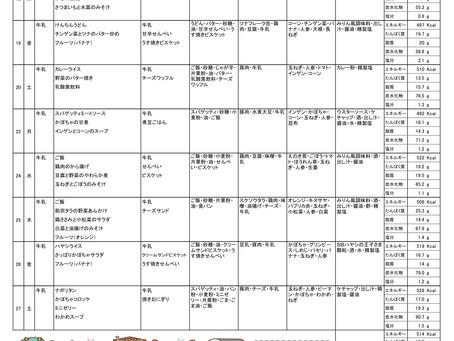 令和2年度 2月献立表(後半)