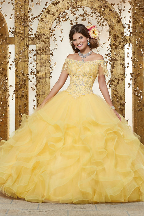 Morilee Yellow -Size 8 - #89237