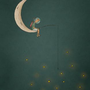 Moonboy fishing for stars
