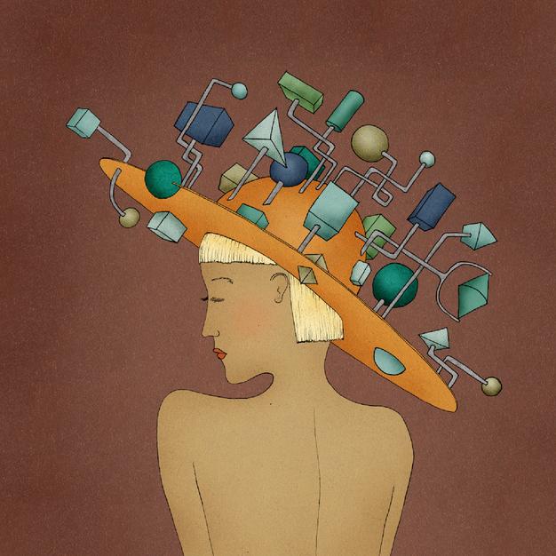 Sie trägt das Chaos in ihrem Kopf wie ei
