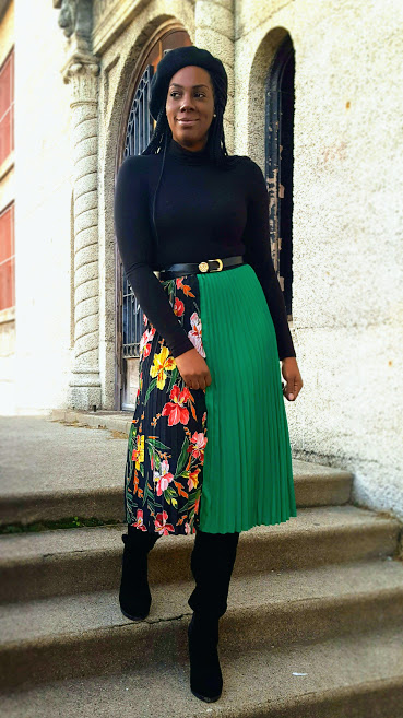 This skirt can be styled for any season.
