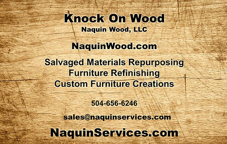 2020 Business card for Naquin Services a