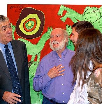 _Ludivine, Dimitri & Corneille with mayor of Ramat Gan, Zevi Bar 24.9.03
