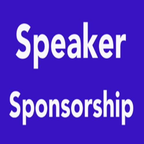 Speaker Sponsorship