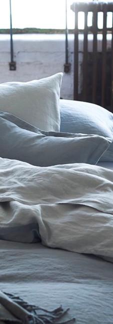 Biella Pale Grey & Dove Bedding