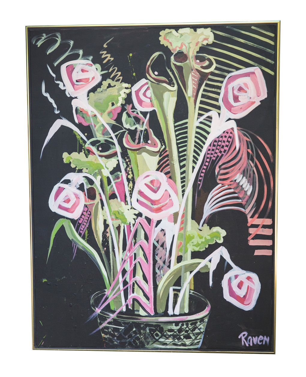 The life of flowers - $1700 (3' x 4')