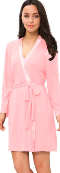 Pink Bamboo Robe