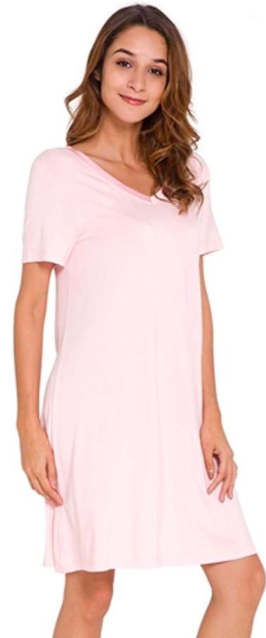 Pink Bamboo Sleepshirt