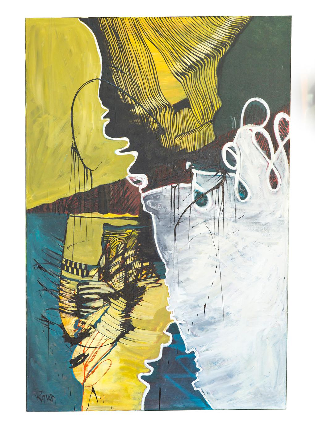"""Tides - $3000 (40"""" x 5')"""