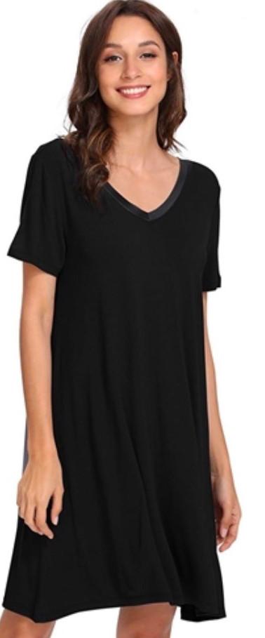 Black Bamboo Sleepshirt