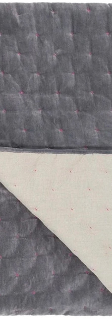 Sevanti Graphite & Pink Quilted Throws