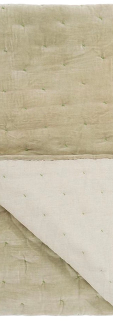 Sevanti Dove & Lime Green Quilted Throws