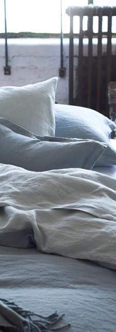 BIELLA PALE GREY & DOVE BED LINEN