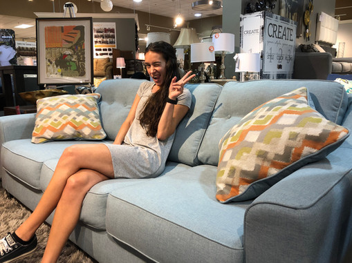 Couch shopping at Ashley Furniture!