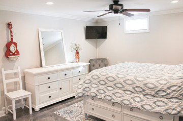 We collected furniture and decor from thirft stores around Nashville to paint and refinish!