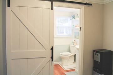 Jordan made this cool barn door!