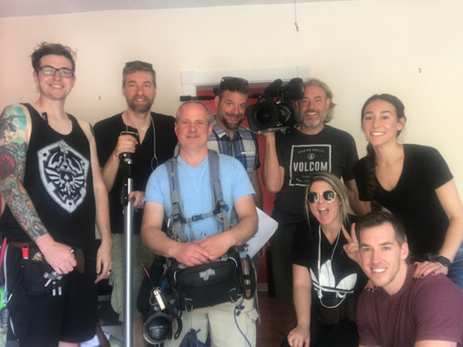 With the crew behind the scenes!