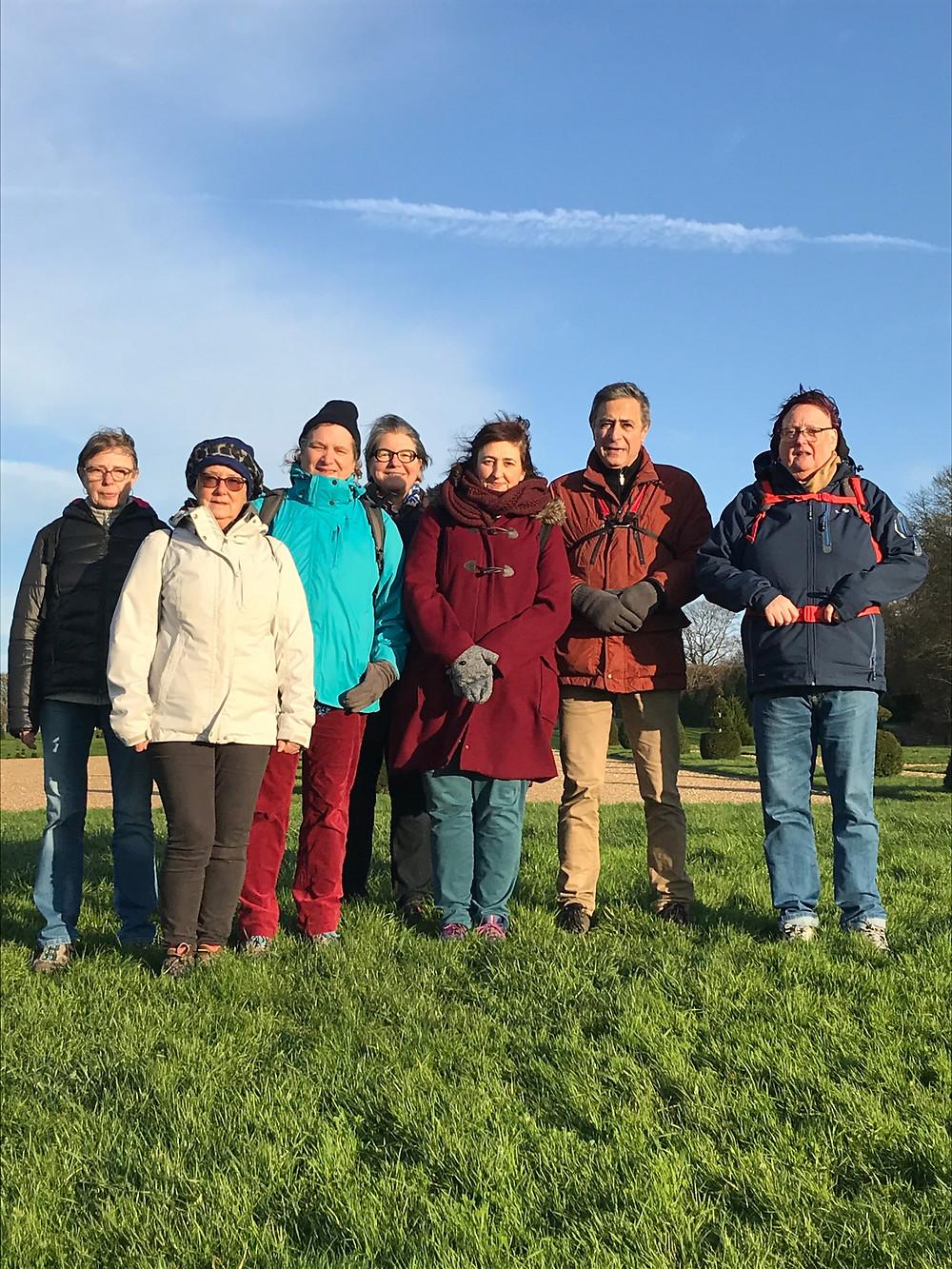 Photo de notre petit groupe de 8 randonneurs à nouveau