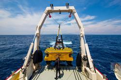 Triton submersible launch