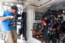 Filming Britannic